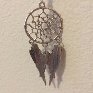 Jewelry - 3/$30 Silver Dream Catcher Angel Wings Necklace